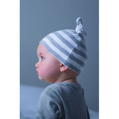 Baby Striped T-knot Hat