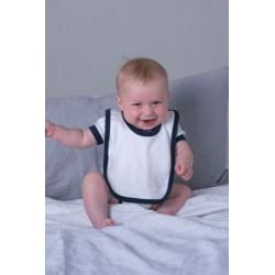 Baby Bib With contrast Ties