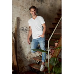Men's No Label Organic T V-Neck