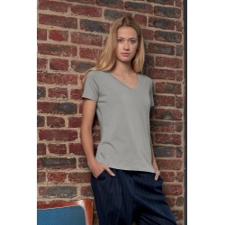 Woman's No Label Organic T V-Neck