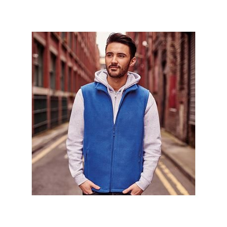 Gilet micropolaire homme