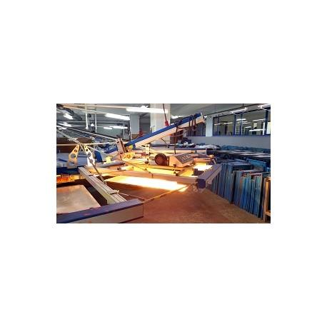 Sérigraphie sur textile clair