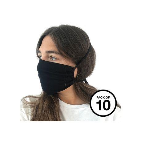 Masque en coton biologique (paquet de 10)