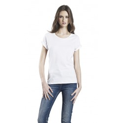 Continental T-shirt Femme manche retroussée